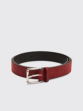Très Bien Leather Belt Snake Tamar Red