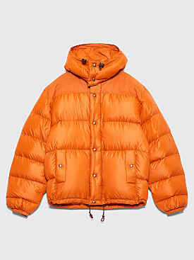 Très Bien x Crescent Down Works Hooded Puffer Jacket Orange