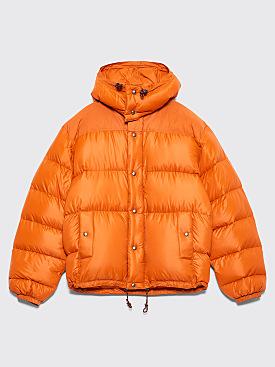 Très Bien x Crescent Down Works Hooded Puffer Jacket Orange