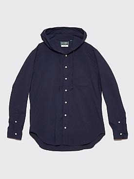 Très Bien x Gitman Bros. Hooded Shirt Ripstop Navy