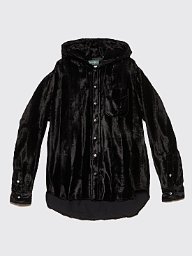 Très Bien x Gitman Bros. Hooded Shirt Velvet Black