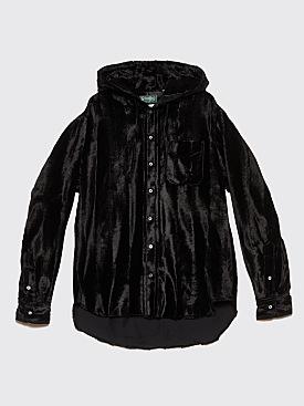 Très Bien x Gitman Bros. Hooded Shirt Velvet Black
