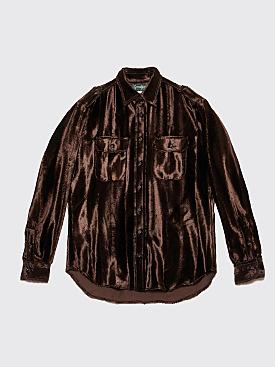 Très Bien x Gitman Bros. Epaulette Shirt Velvet Brown