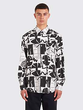 Très Bien Classic Shirt Heather Print Black / White