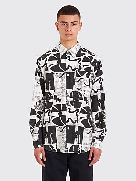 Très Bien Classic Shirt Heather Print Black / White