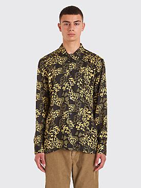 Très Bien Short Tunic Shirt Alp Print Gold