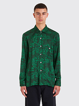 Très Bien Short Tunic Shirt Alp Print Green