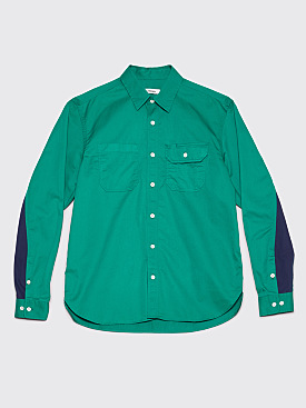 Très Bien Work Shirt Pima Cotton Emerald Green