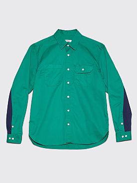 Très Bien Work Shirt Pima Cotton Emerald Green