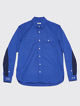 Très Bien Work Shirt Pima Cotton Royal Blue