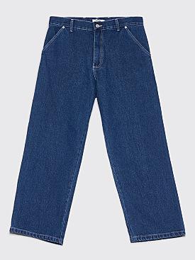 Très Bien Cropped Carpenter Pants Rinse Denim Blue