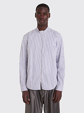 Très Bien Running Shirt Thin Stripe White / Blue
