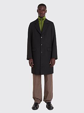 Très Bien Tailored Coat Wool Drill Black
