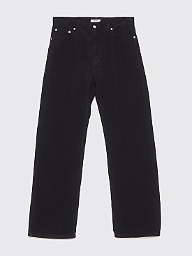 Très Bien 5-Pocket Loose Cord Pants Black