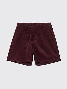 Très Bien Sport Shorts Soft Cord Burgundy