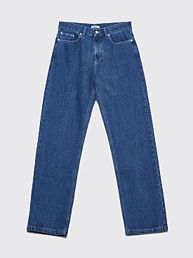 Très Bien 5-Pocket Loose Washed Denim Pants Indigo