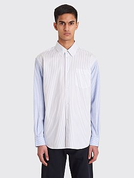 Très Bien Classic Shirt Heavy Poplin Striped White / Blue