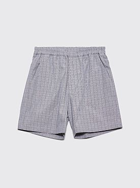 Très Bien Sport Shorts Small Checks Blue