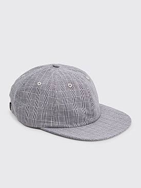 Très Bien 6 Panel Hat Small Checks Blue