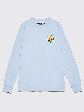 Tres Bien Souvenir LS T-Shirt Sunflower Light Blue