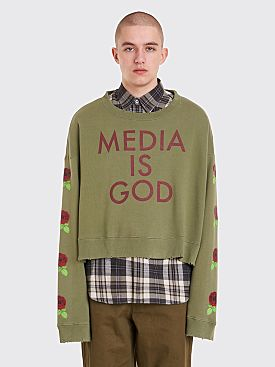 Undercover Media Is God Sweatshirt Moss Green