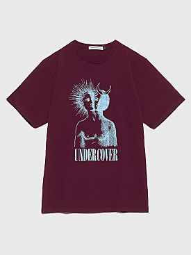 Undercover Angel & Devil Logo T-Shirt Bordeaux