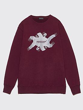 Undercover Claw Logo Sweatshirt Bordeaux
