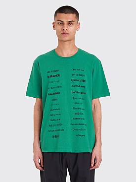 Undercover Don't Walk Away T-Shirt Green
