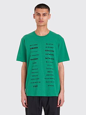Undercover Don't Walk Away T-Shirt Green