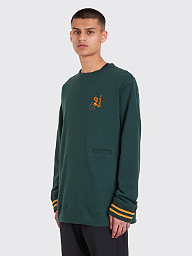 Undercover Logo Embroidery Sweatshirt Dark Green