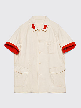 Undercover Folded Cuffs Overshirt Ivory