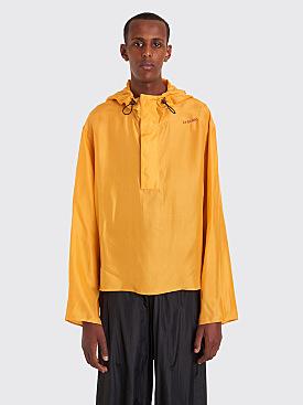 Wales Bonner Créolité Hooded Silk Sweatshirt Mustard