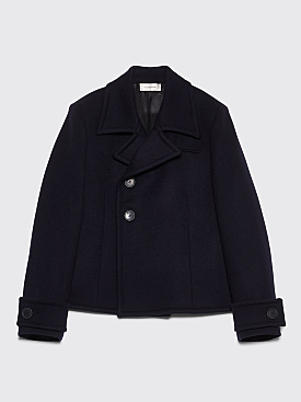 Wales Bonner DB Cropped Military Coat Navy
