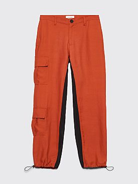 Wales Bonner Cargo Pants Rust / Black