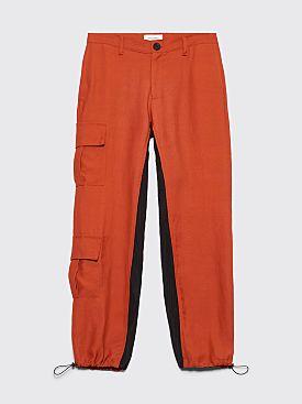 Wales Bonner Cargo Pants Rust / Black