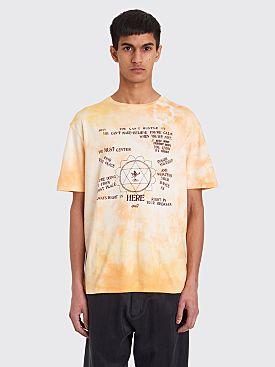 Wales Bonner Presence Print T-shirt Pale Orange Tie Dye