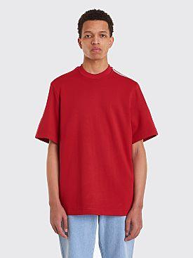 Y-3 3 Stripes Short Sleeve Sweatshirt Chili Pepper Red