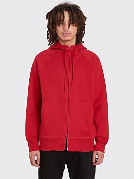 Y-3 Classic Hooded Zip Sweatshirt Chili Pepper red