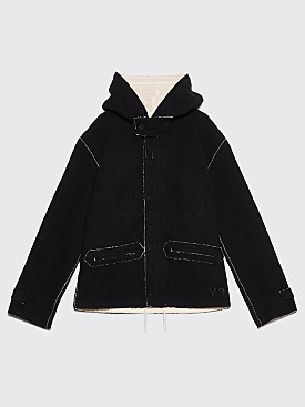 Y-3 Double Face Hooded Jacket Black