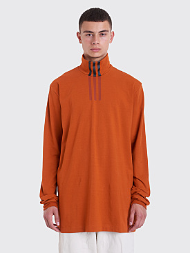 Y-3 Three Stripes High Neck T-shirt Orange