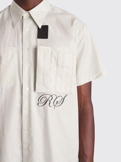 db4f6e856e Très Bien - Raf Simons x Fred Perry Space Pocket Micro Check Shirt Basil