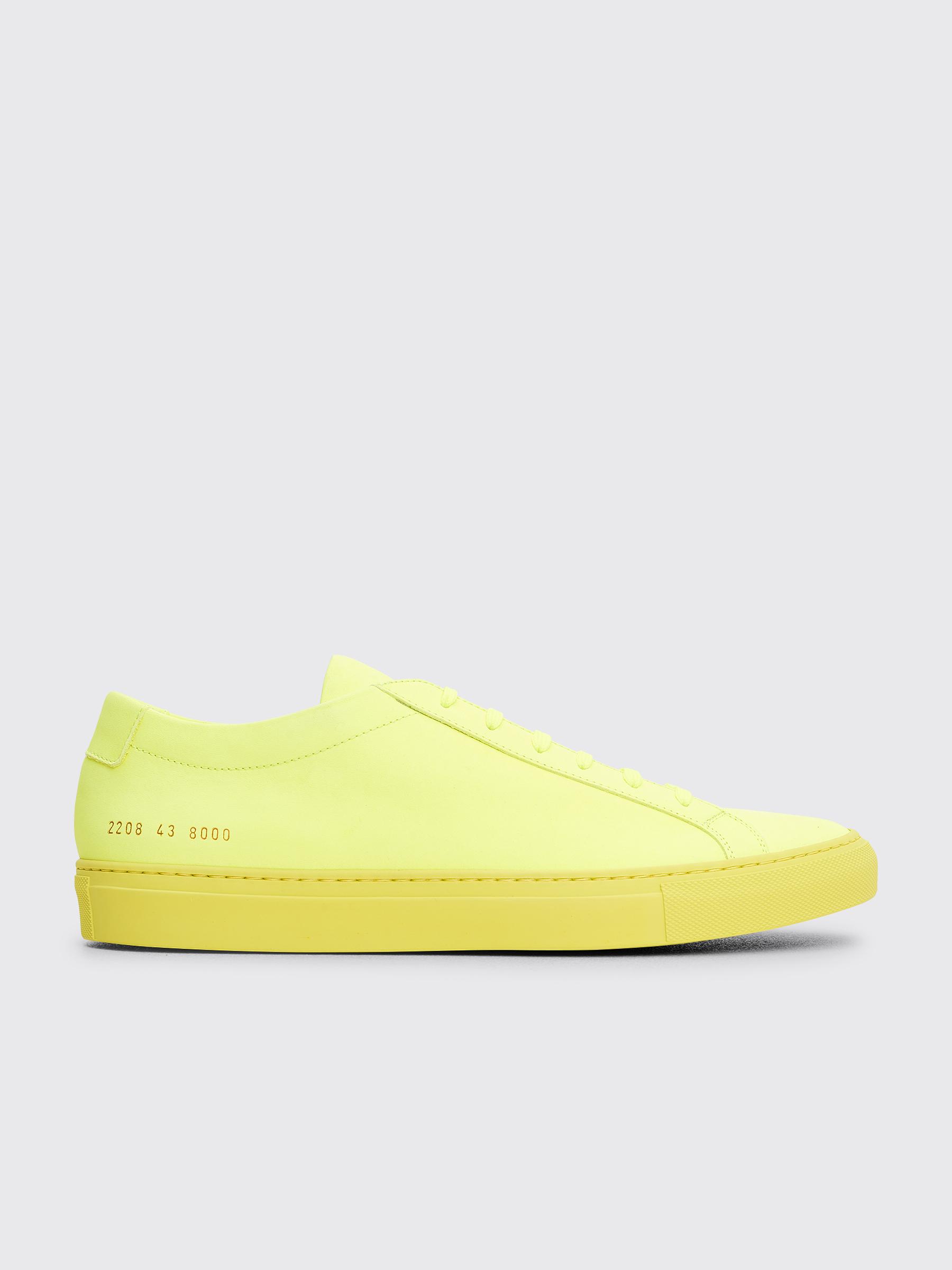 71553f43e25f Très Bien - Common Projects Original Achilles Low Fluo Neon Yellow
