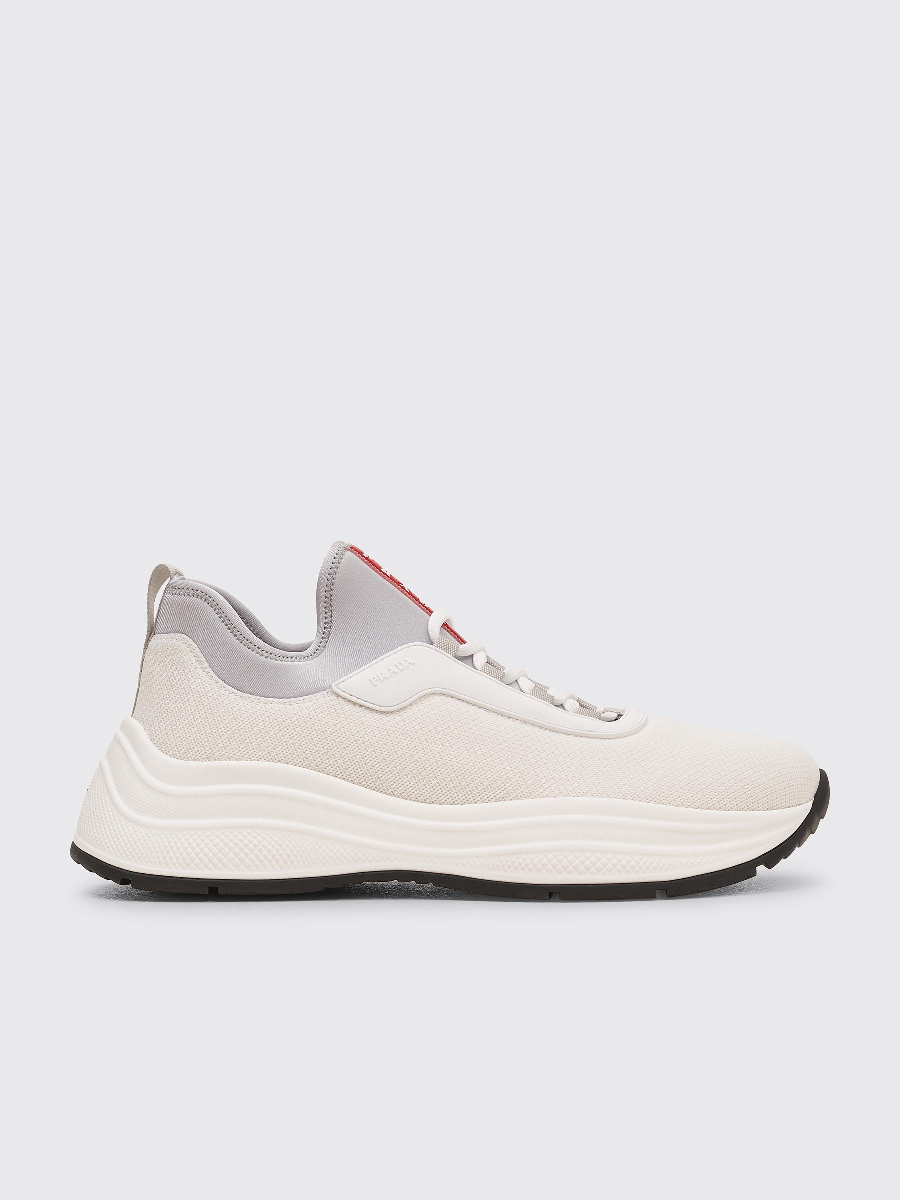 Prada Mesh Neoprene Sneakers White