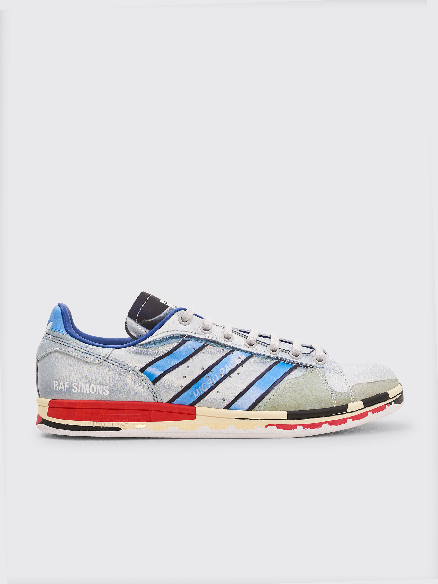 classic fit 3d8bc 1a51f Très Bien - adidas x Raf Simons Stan Smith Micropacer Print Silver   Red