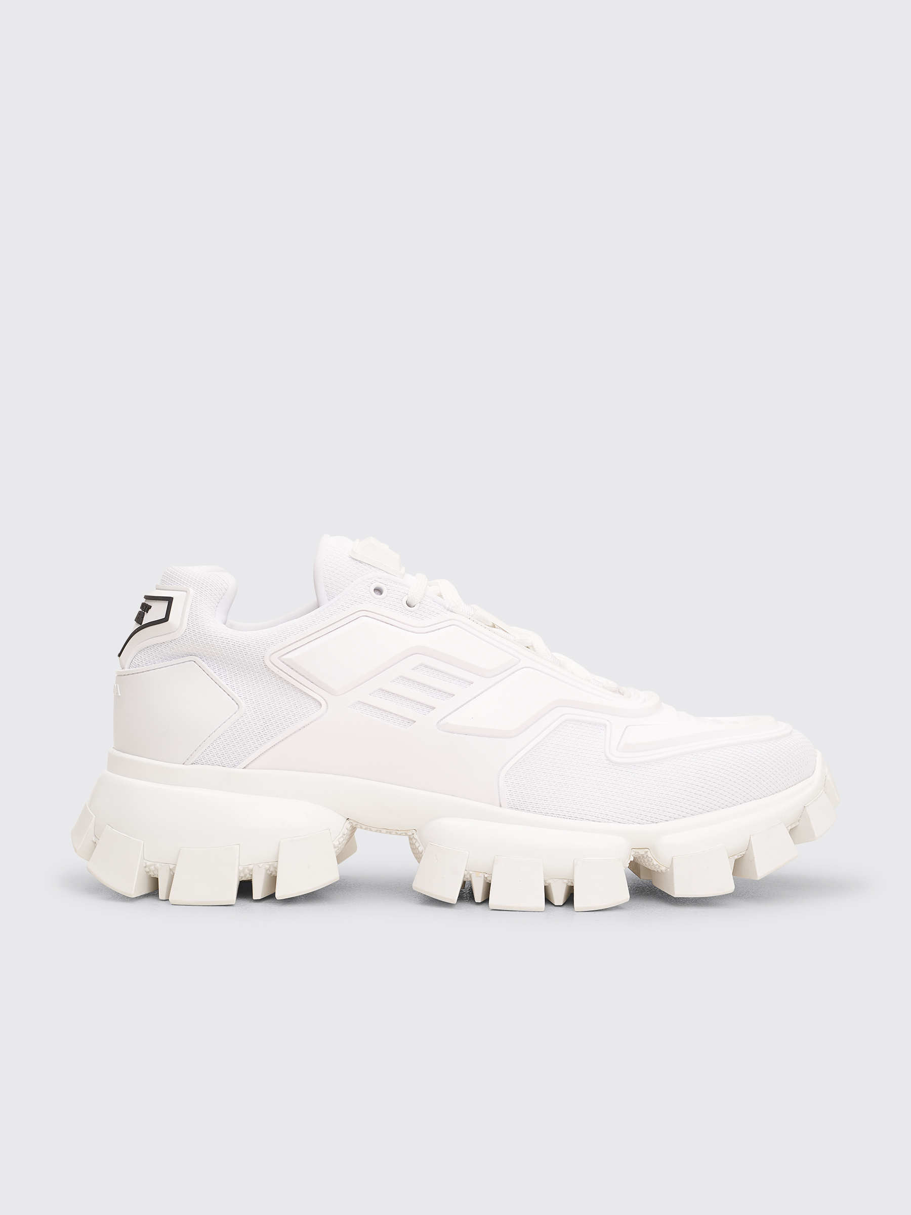 Prada Cloudbust Thunder Knit Sneakers White