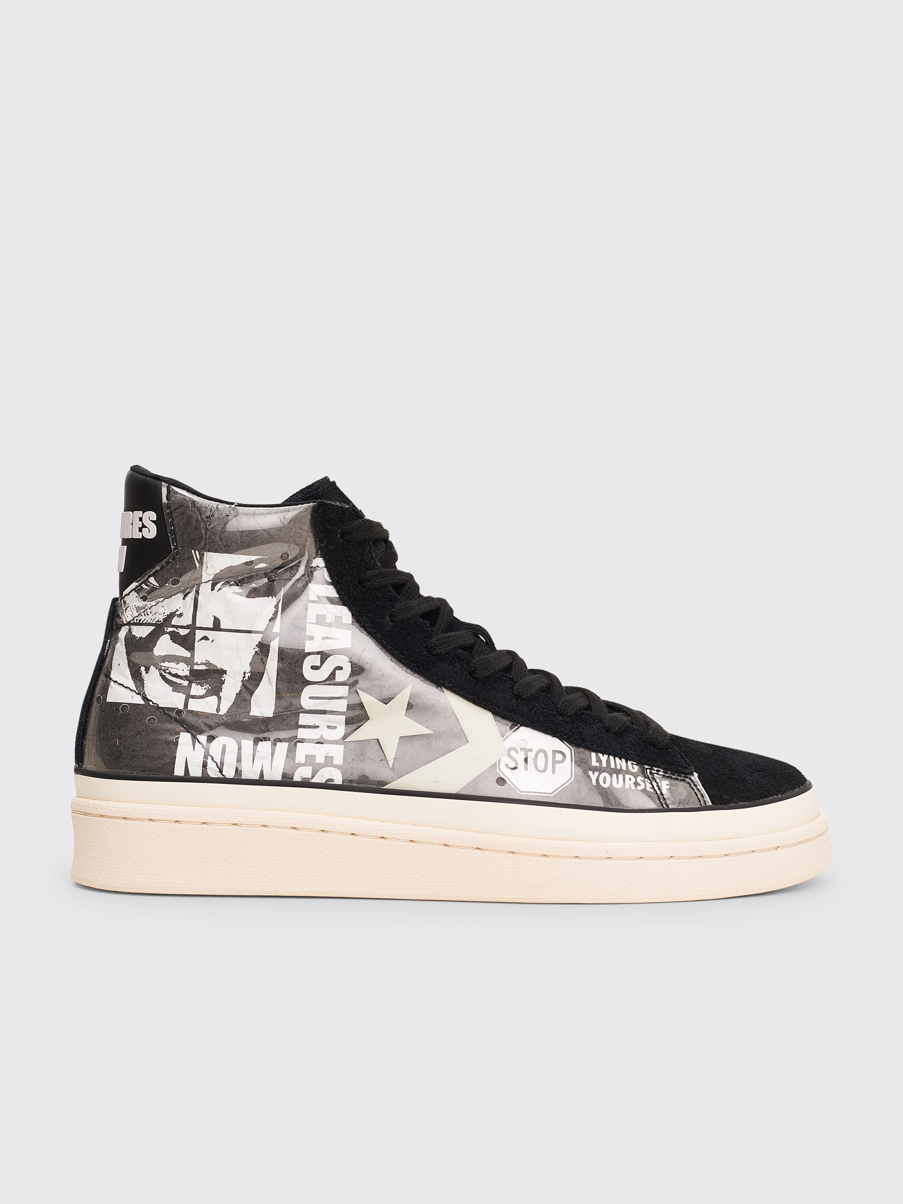 Converse x Pleasures Pro Leather Mid Black White