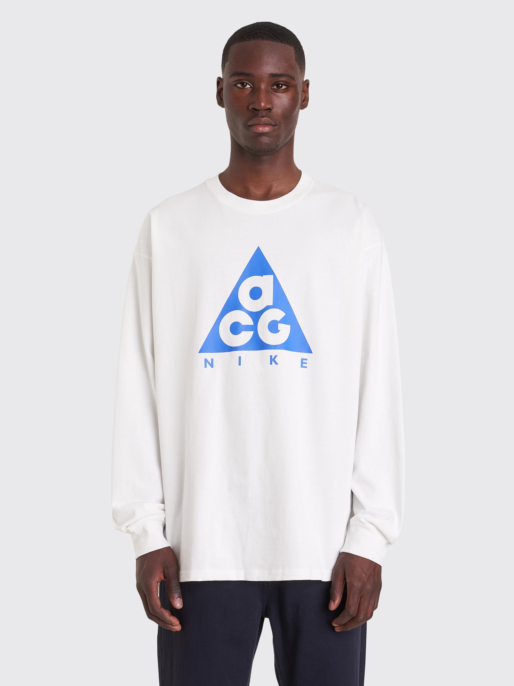 cb499d057 Très Bien - Nike ACG NRG Logo Longsleeve T-shirt White
