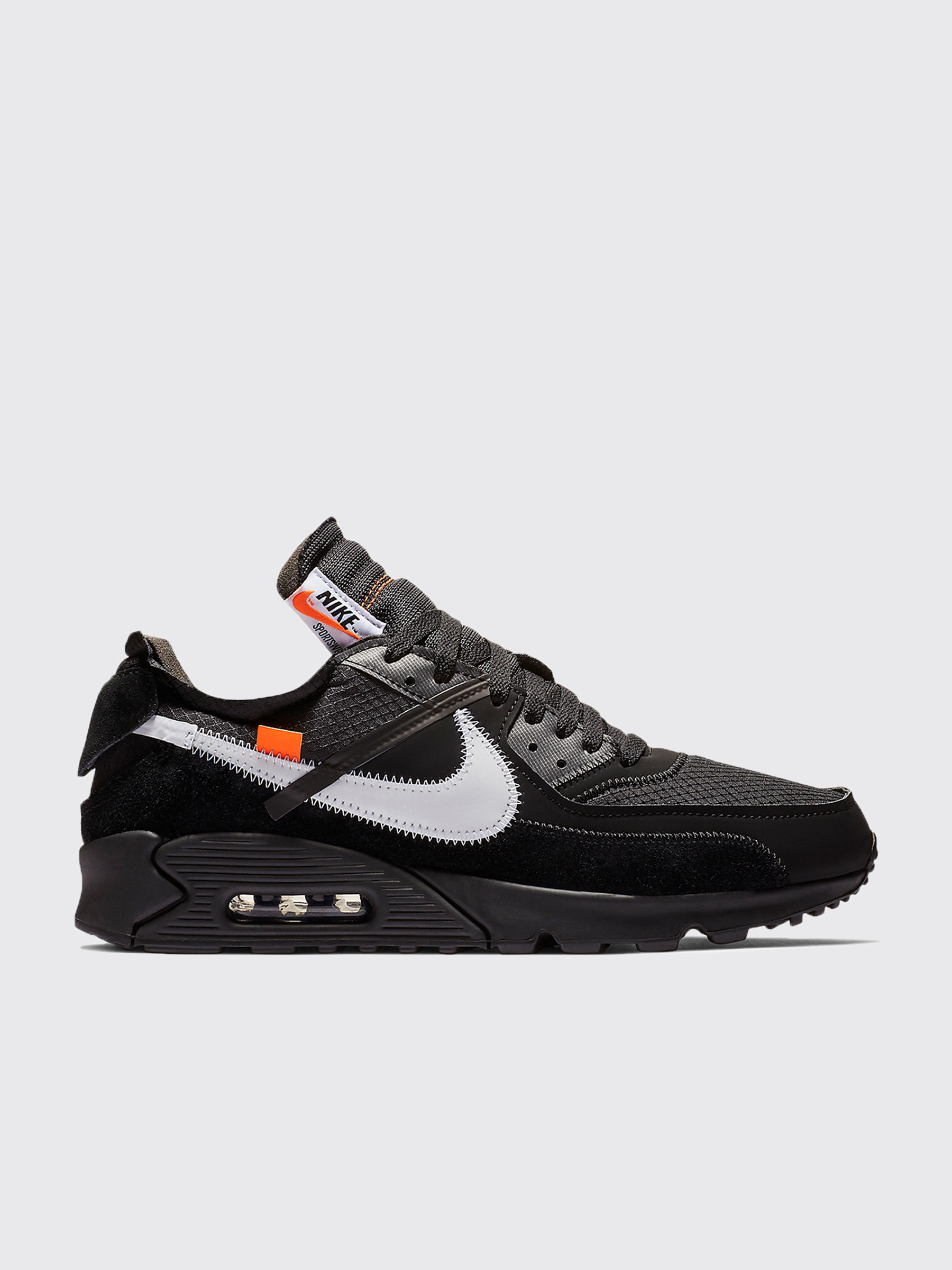 pretty nice 1d872 0803f Très Bien - Nike x Off-White The 10  Air Max 90 Black   Black