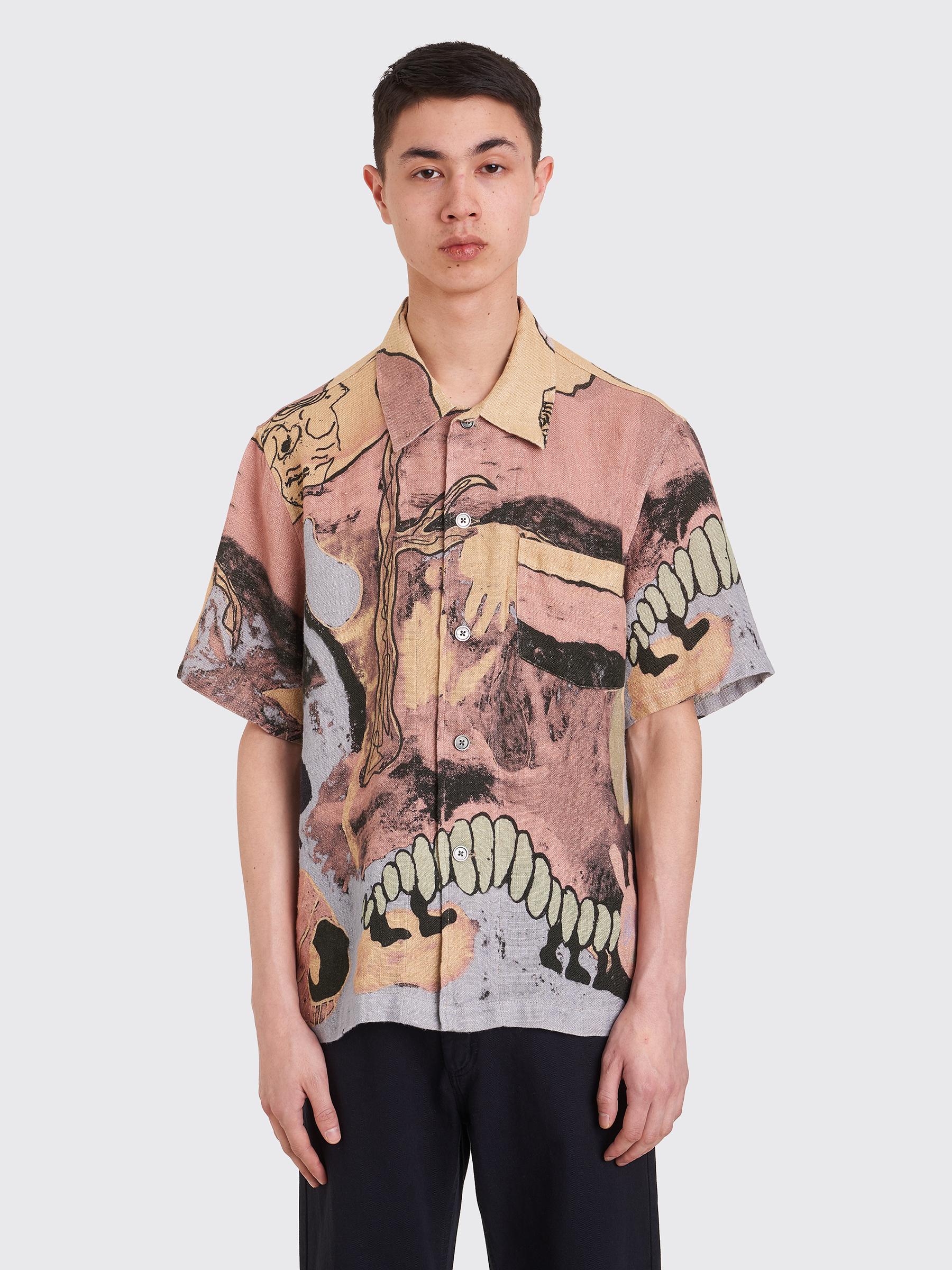 1b2427ca Très Bien - Our Legacy Box Shirt Acid Landscape Print Linen