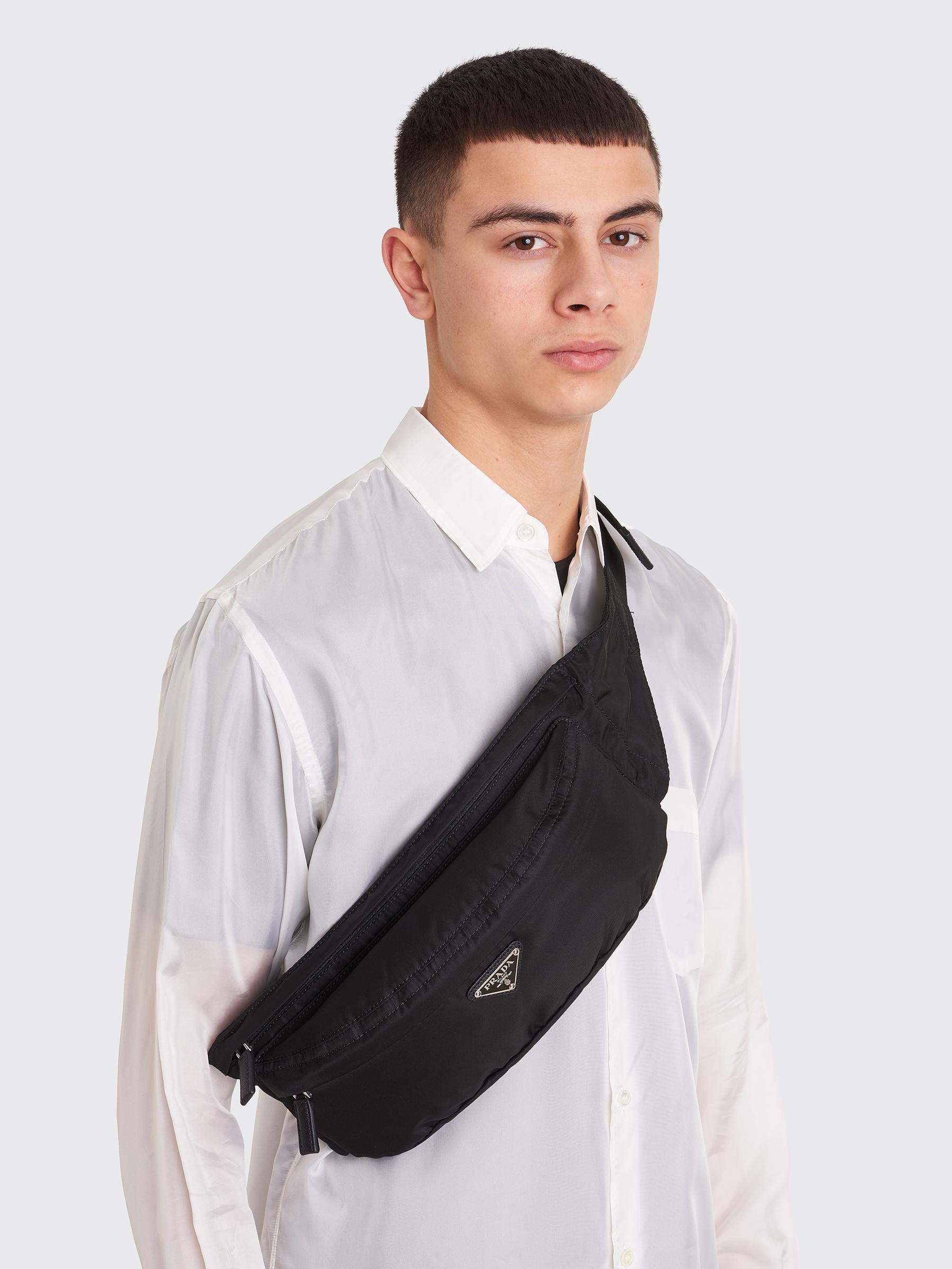 09782a9f Prada Nylon Belt Bag Black